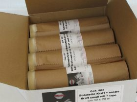 Folded masking paper rolls with tape | Prodyver
